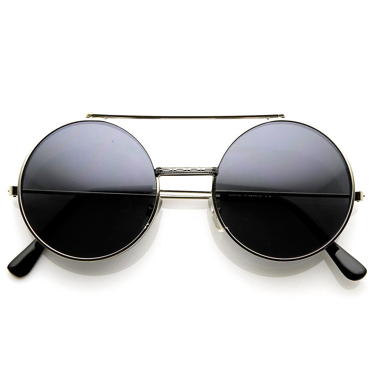 Limited Edition Color Flip-Up Lens Round Circle Django Sunglasses ... c33530a4ba92f