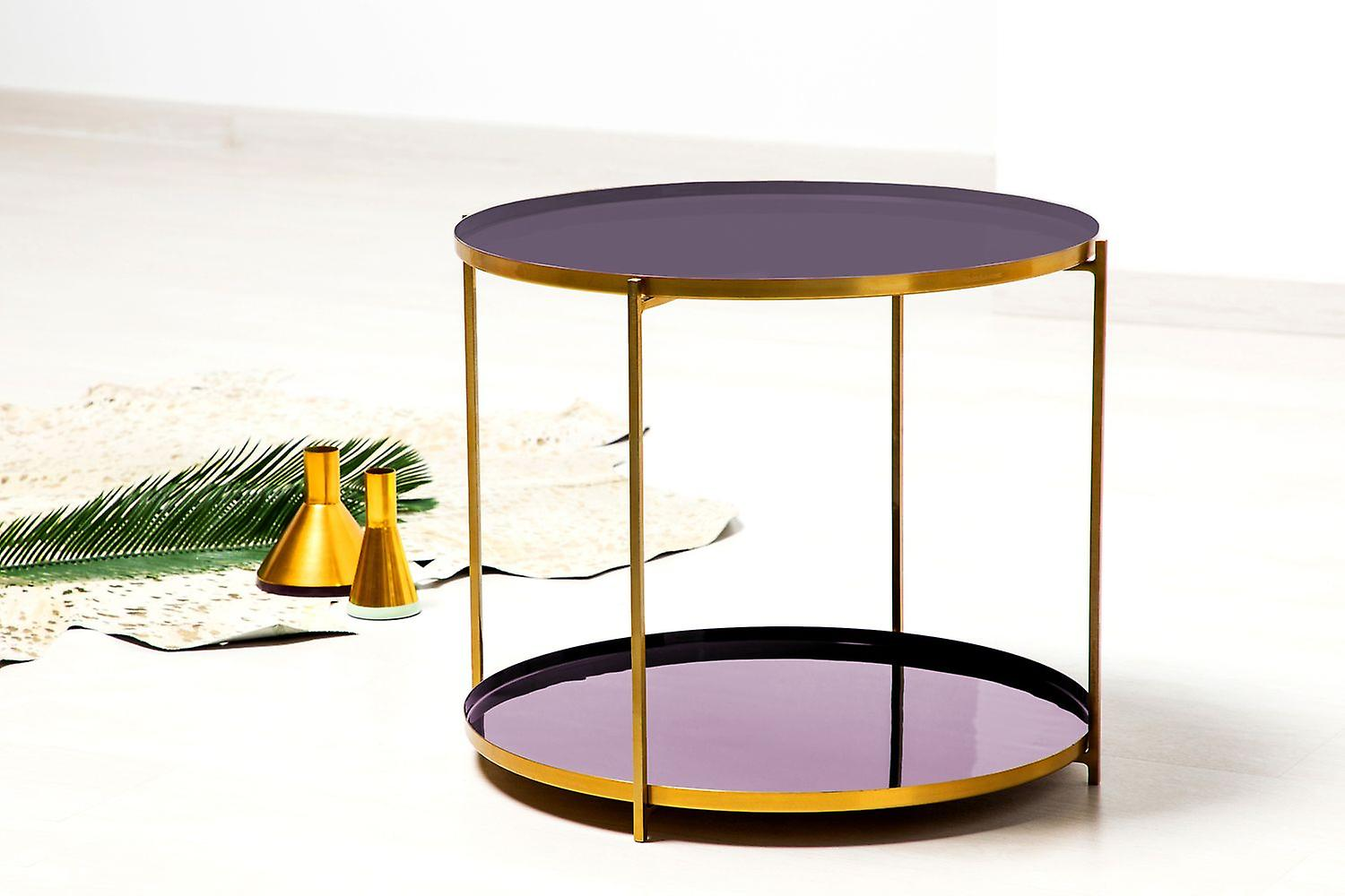 Storage Table Modern Bedside Table Sofa Table Purple Purple Copper