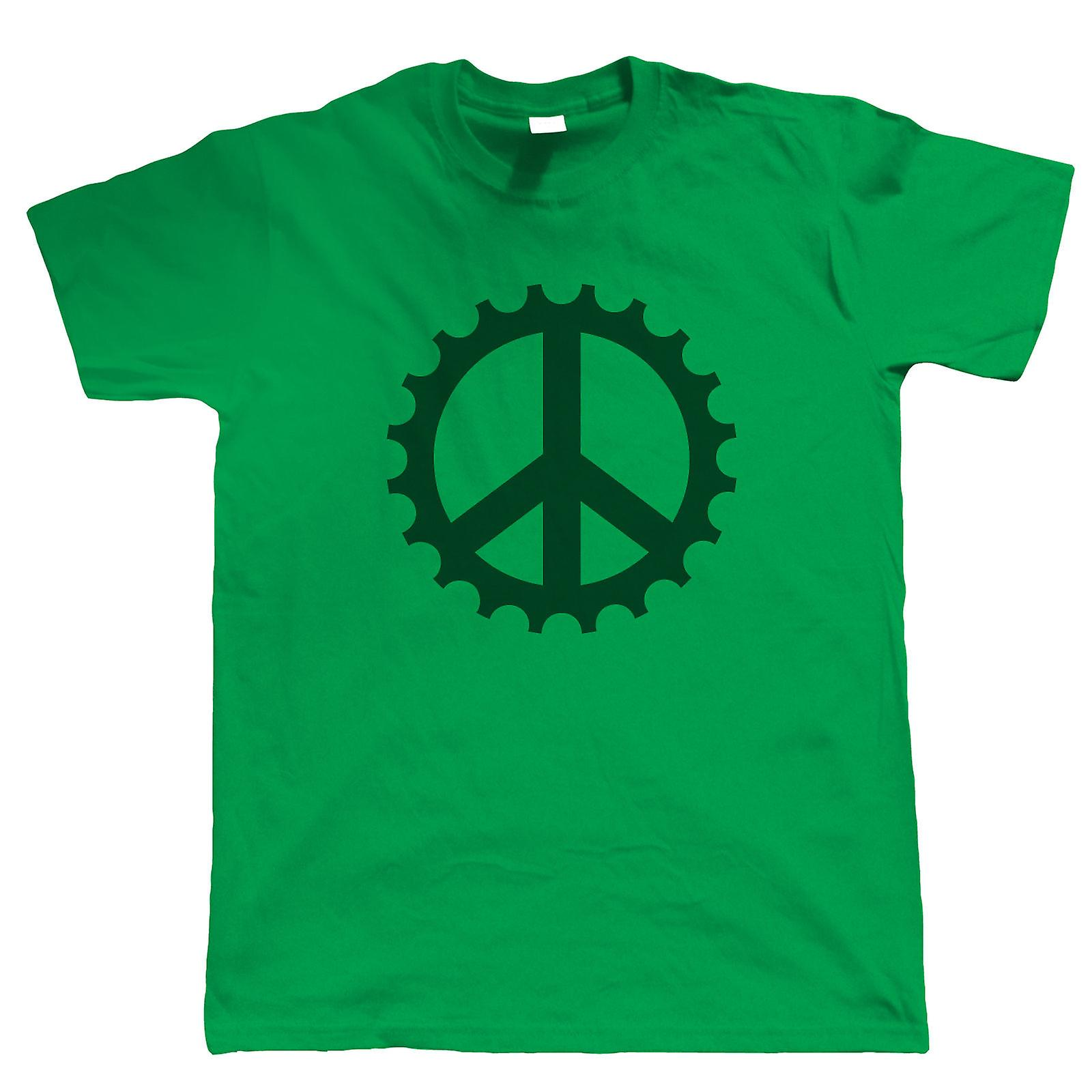 Peace Cog Mens Mountain Bike T Shirt Fruugo