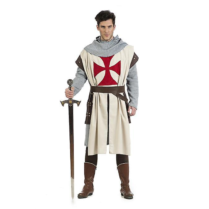DARK AGE KNIGHT QUALITY MEN/'S COSTUME OUTFIT CRUSADER  MEDIEVAL FANCY DRESS