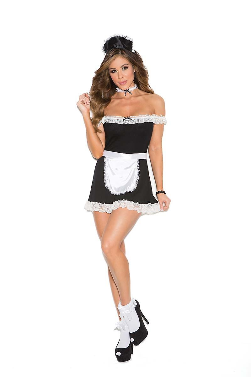 a02042f6606 Elegant Moments Womens Sexy French Maid Halloween Roleplay Costume ...