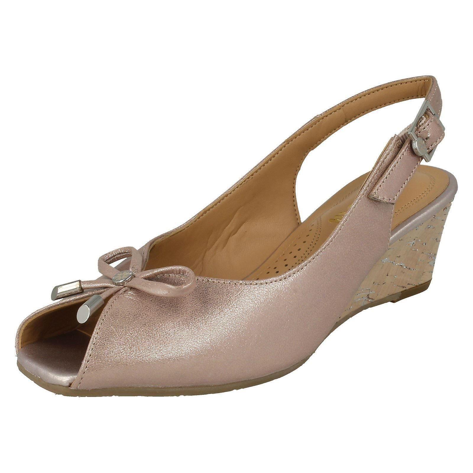 028edf1416e4c Ladies Van Dal Sling Back Wedge Open Toe Sandals Oxley | Fruugo
