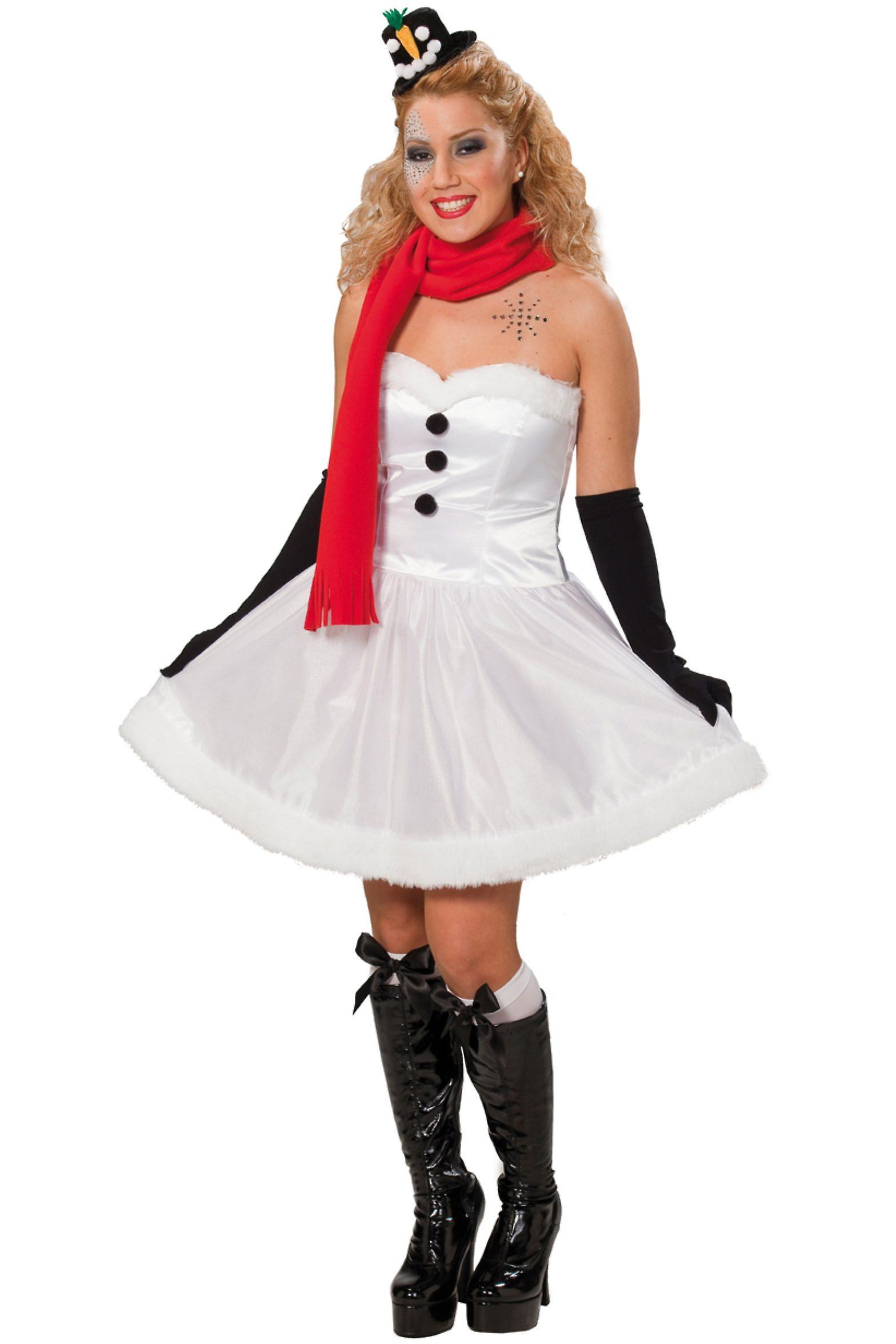 kost me frauen schneemann weihnachten kleid damen fruugo. Black Bedroom Furniture Sets. Home Design Ideas