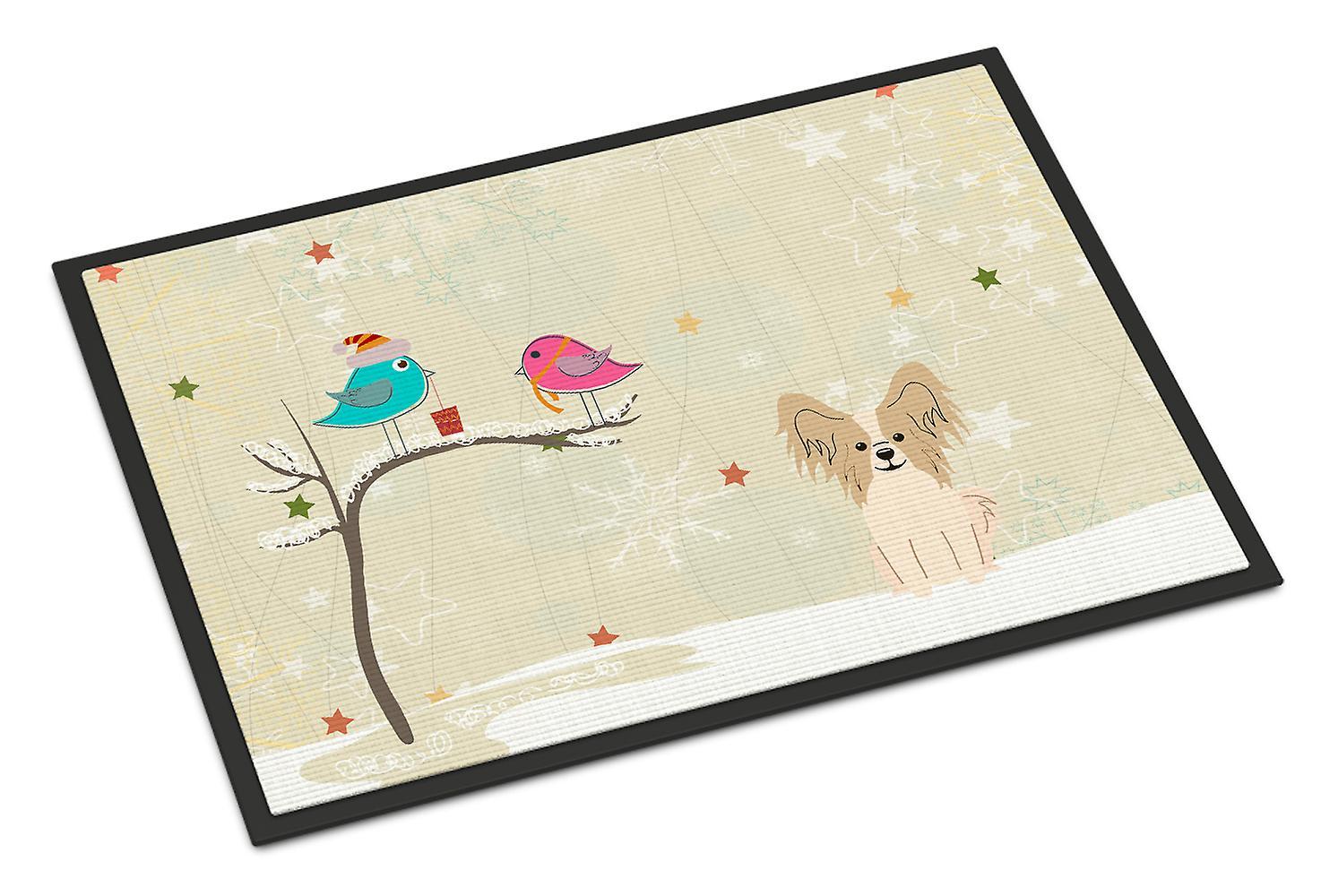 Weihnachtsgeschenke von Freunden Papillon Sable weiss Indoor oder ...