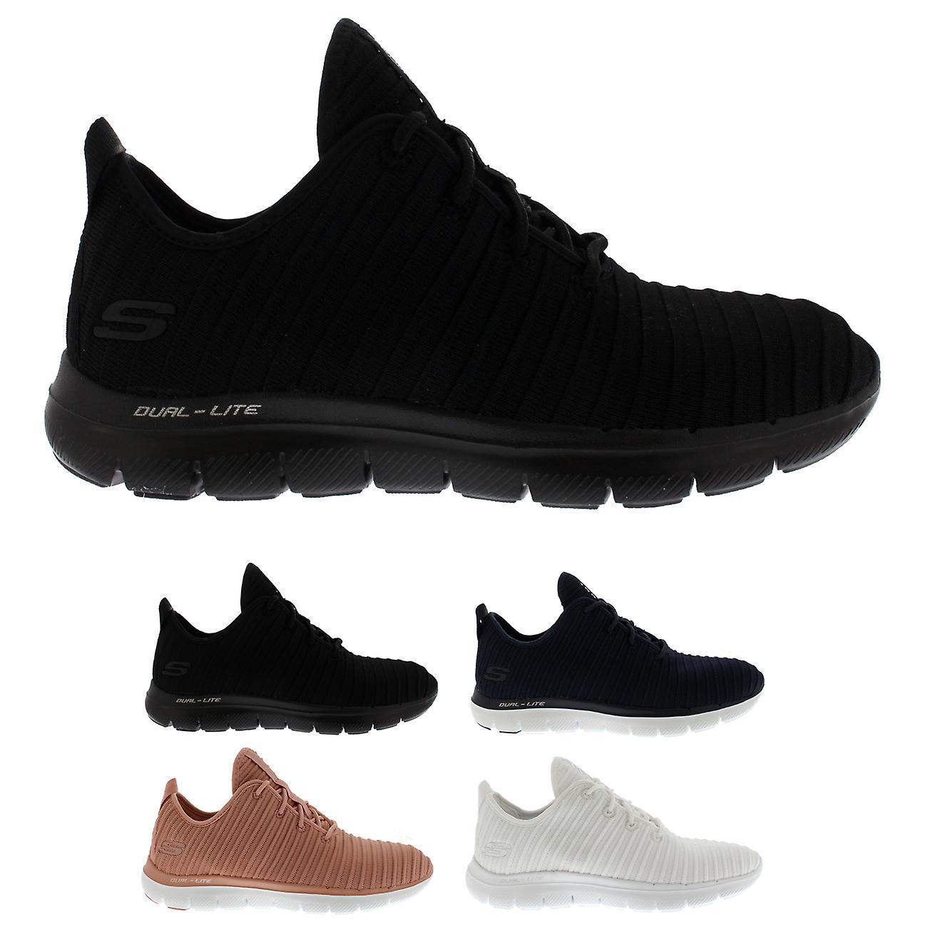 01d99c93d5b Womens Skechers Flex Appeal 2.0 Estates Memory Foam Lightweight Sneakers