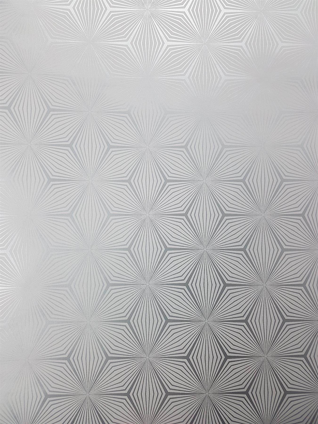 Geometric Star Metallic Wallpaper Grey Silver Shimmer Stripes Holden Sparkle
