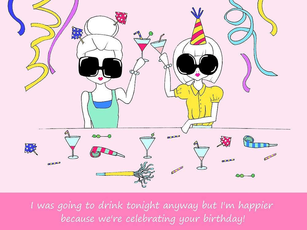 Birthday Drinks Poster Print By Melissa Corsari 18 X 24 Fruugo