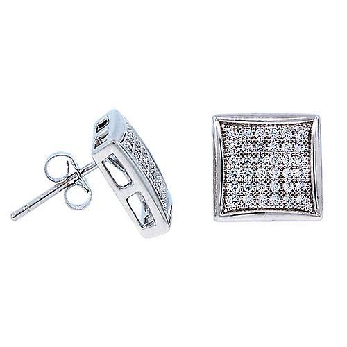 6f7830b98 925 sterling silver MICRO PAVE earrings - WIDE 12 mm | Fruugo