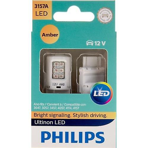 Philips 3157 Ultinon LED Bulb (Amber), 2 Pack