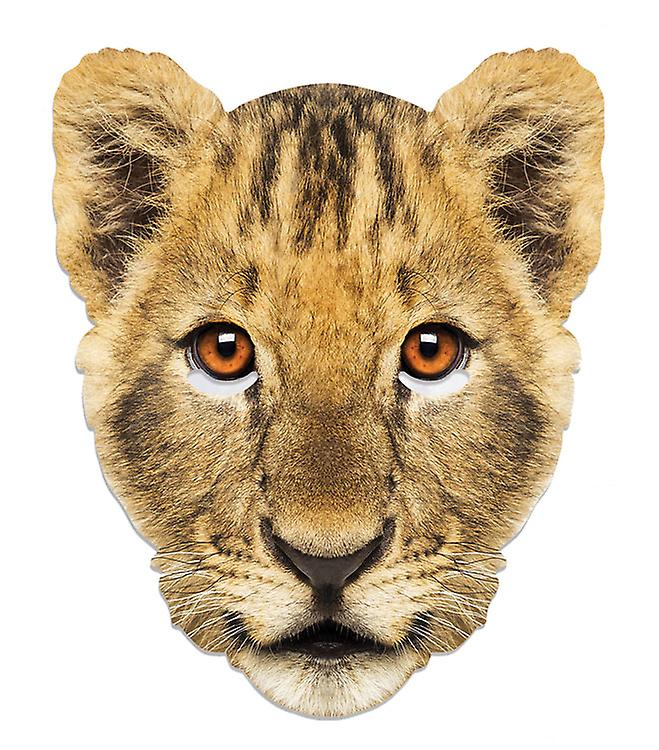 World Book Day Fancy Dress Up Lion Cub Animal Single 2D Card Party Face Mask