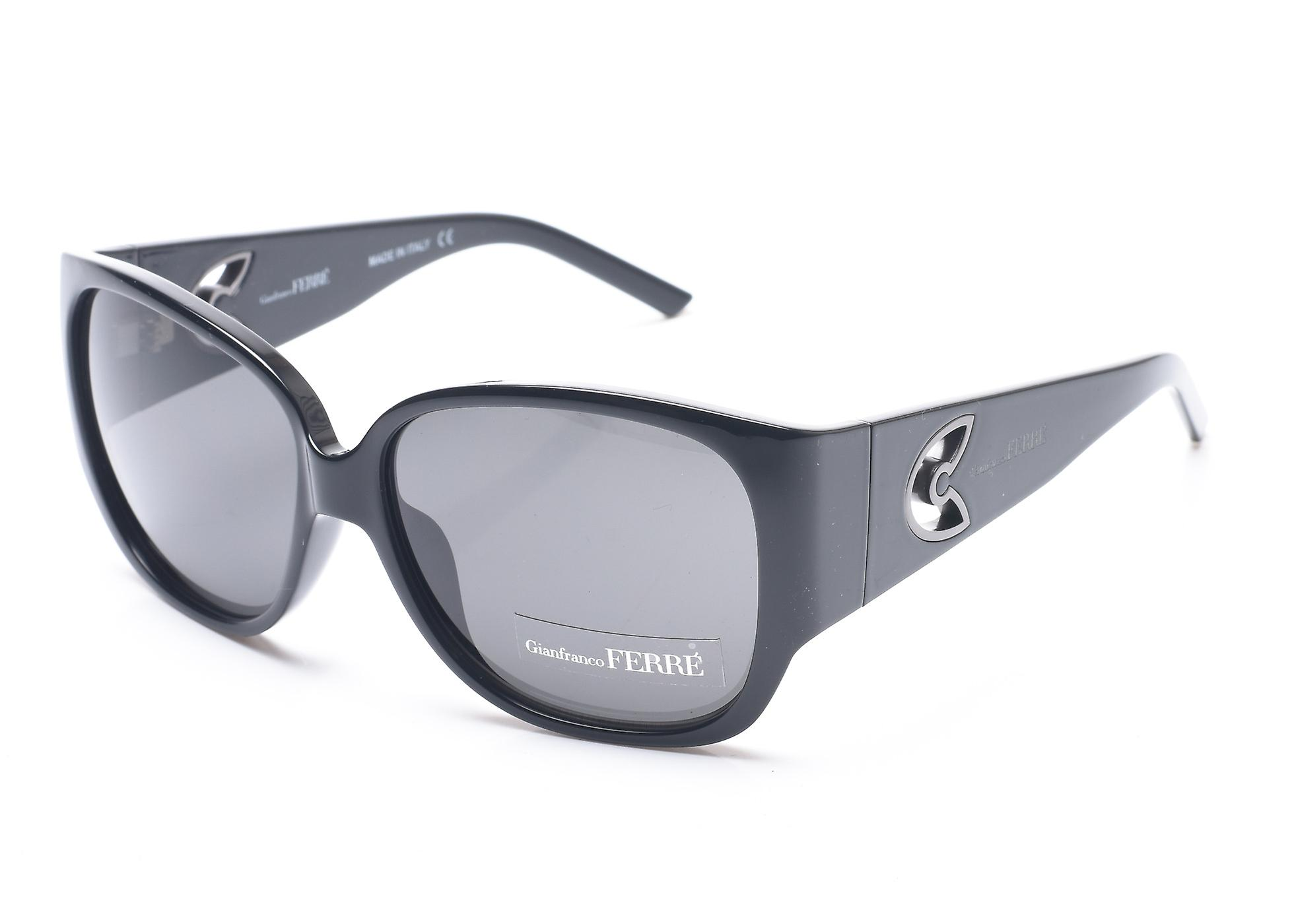 8c185349273 Gianfranco Ferre Women s Rounded Square Sunglasses Black Silver