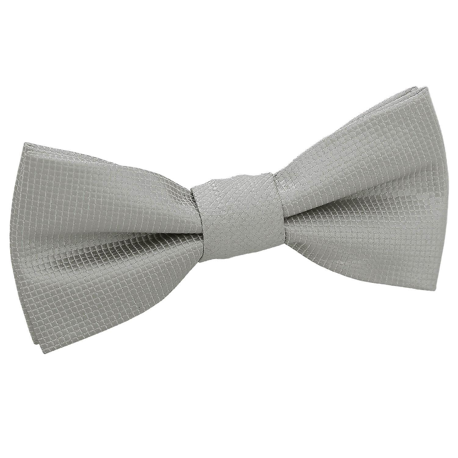 Solid White Kids Pre-Tied Bow Tie