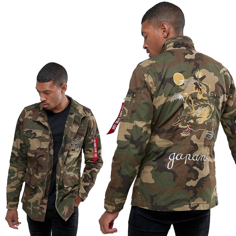5ed10a5859a0 Alpha industries men's jacket Huntington Dragon   Fruugo