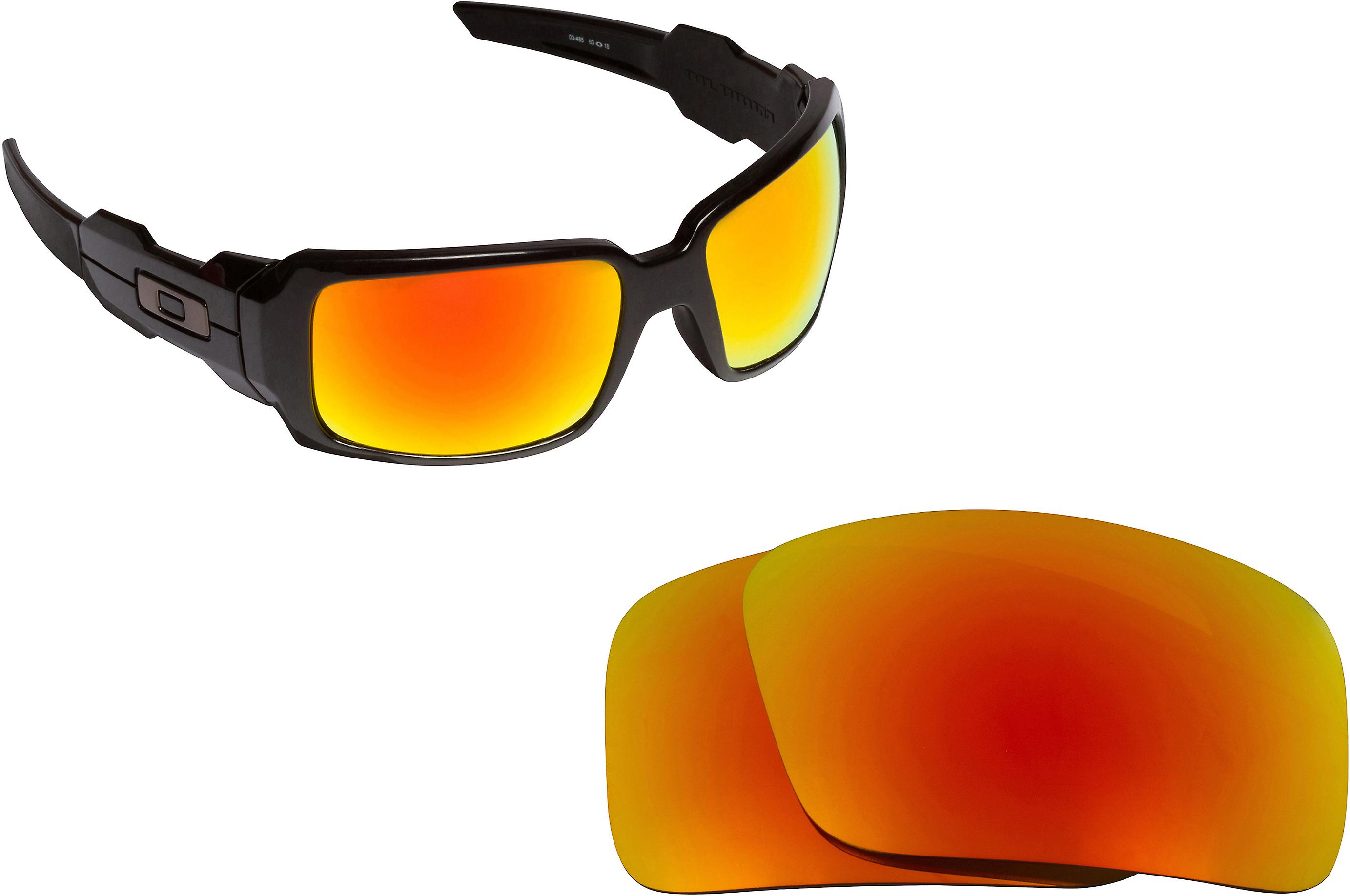 2c787798e58 Oil Drum Replacement Lenses Polarized Red Mirror by SEEK fits OAKLEY  Sunglasses