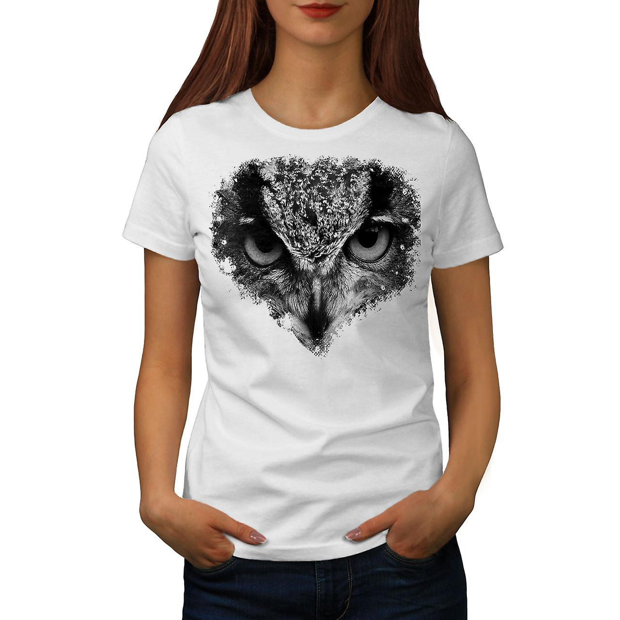 Owl Look Eye Cute Animal Women Long Sleeve T-shirt NEWWellcoda