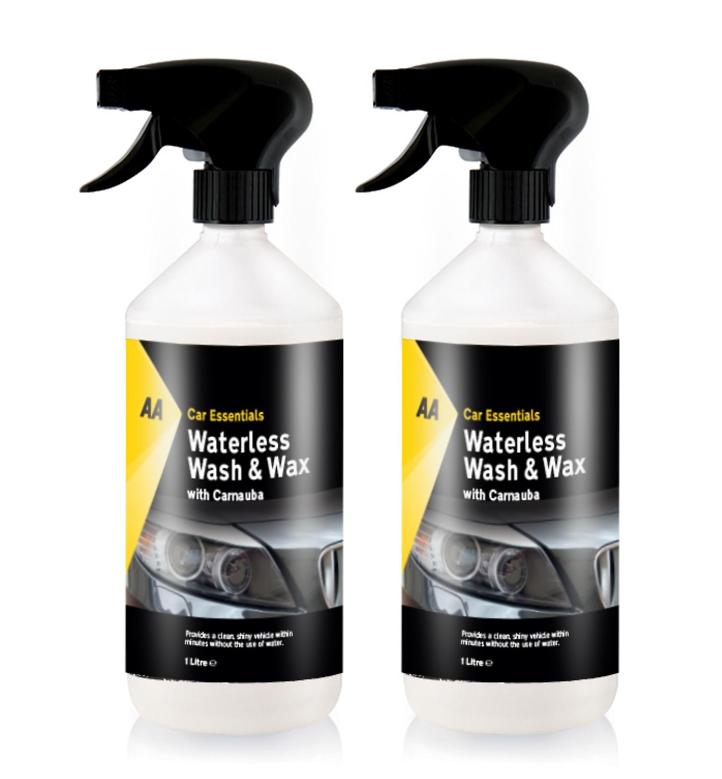 Car Wash And Wax >> Waterless Wash And Wax With Carnauba Car Cleaner Aa Car Essentials 2 X 1l