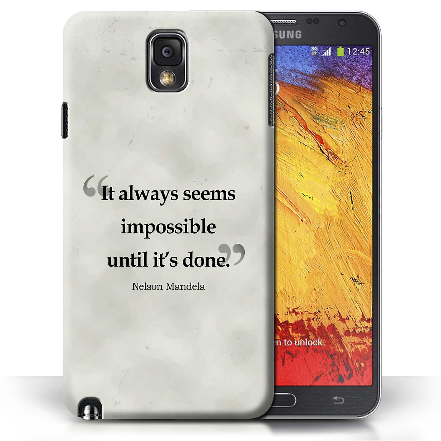 hot sale online 0300f 43e5e STUFF4 Phone Case/Cover for Samsung Galaxy Note 3 / Nelson Mandela Design /  Famous Quotes Collection