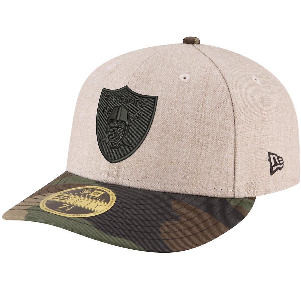 Oakland Raiders wood camo New Era 59Fifty LOW PROFILE Cap