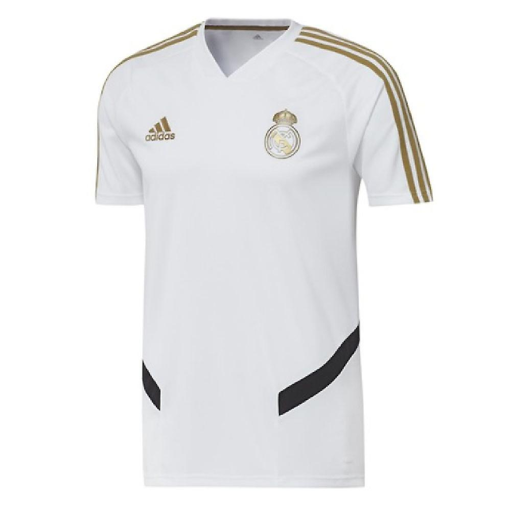 2019 2020 Real Madrid Adidas Training Shirt (White) Kids