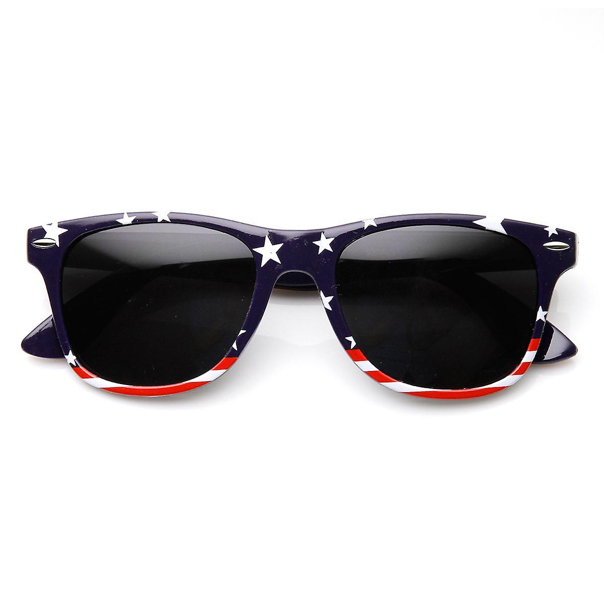 cc5f952971d U.S. American Flag USA Stars and Stripes Horn Rimmed Sunglasses