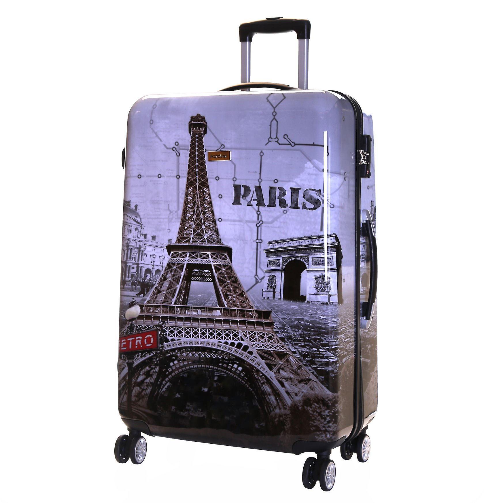 15a464305ec Karabar Falla Large 76 cm Hard Suitcase, Paris | Fruugo