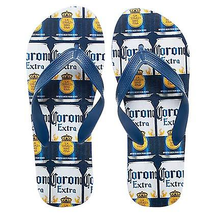 659ae5430a88 Corona Extra Repeating Can Labels Unisex Sandals Flip Flops