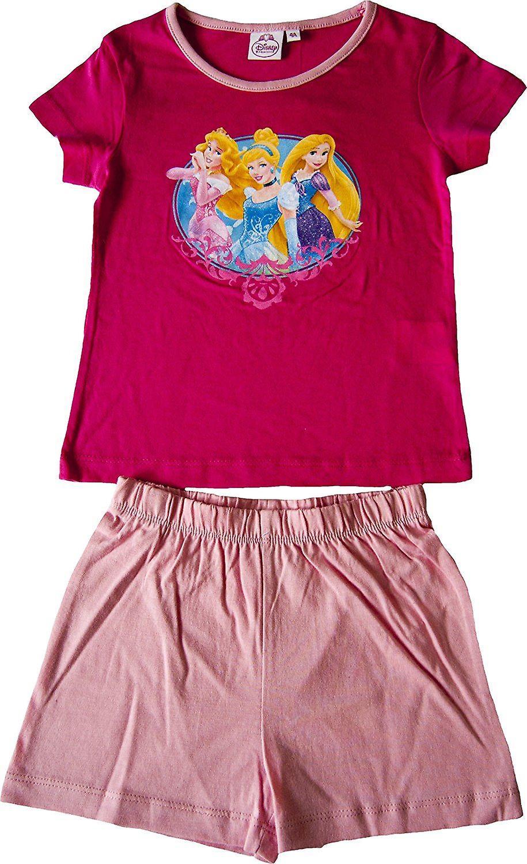 656118197 Girls Disney Princess Short Pyjamas Set