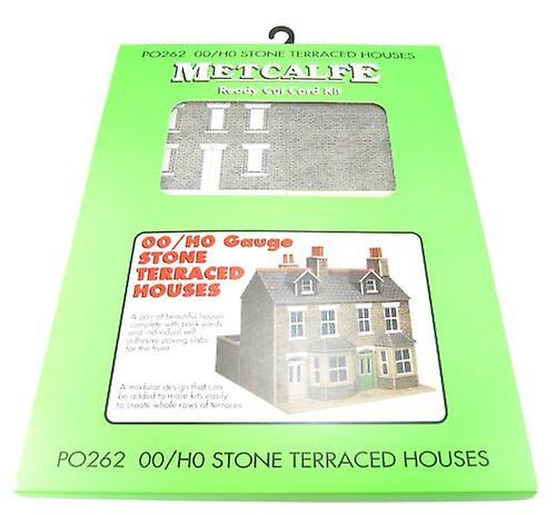 Metcalfe Po262 Oo Gauge Card Kit - Terraced Houses Stone