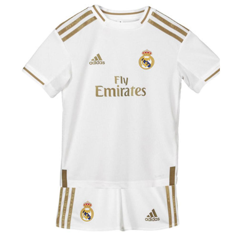 sports shoes d74e4 2cacb 2019-2020 Real Madrid Adidas Home Mini Kit