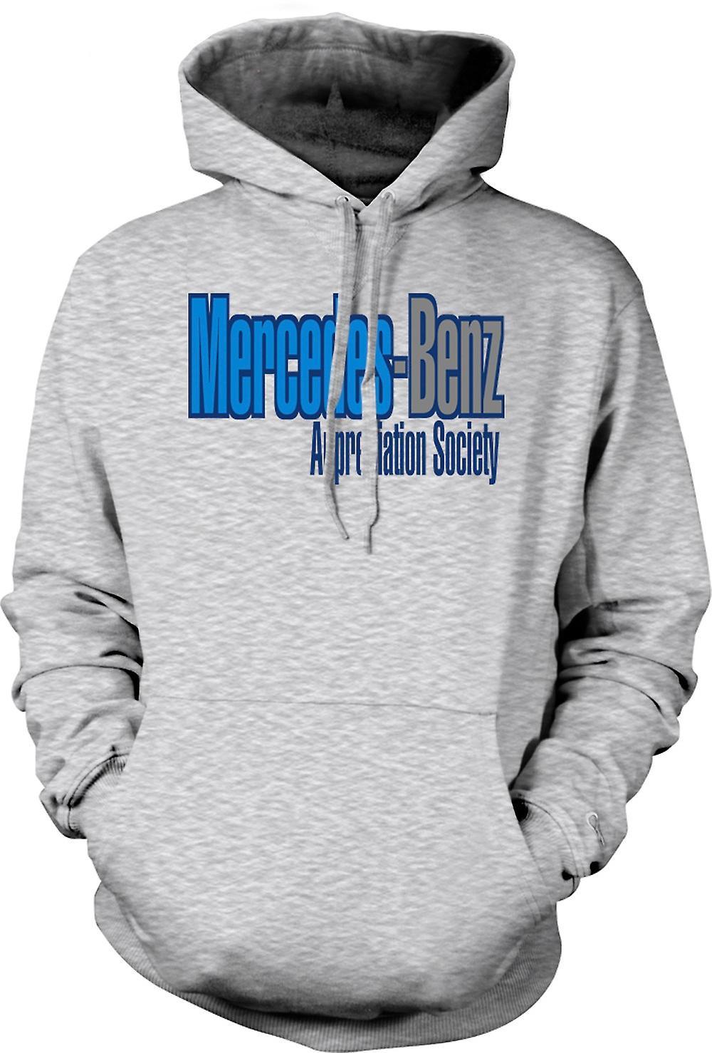 Mens hoodie mercedes benz appreciation society fruugo for Mercedes benz hoodie