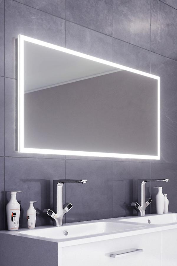 Kiera Slimline Edge LED Badezimmer Spiegel & Demister Pad & Sensor k473