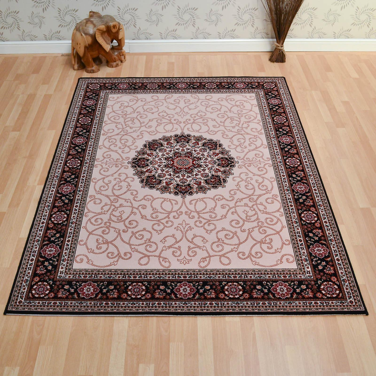 d591bb0751 Lano Imperial Rugs 1954 687 In Beige And Navy | Fruugo