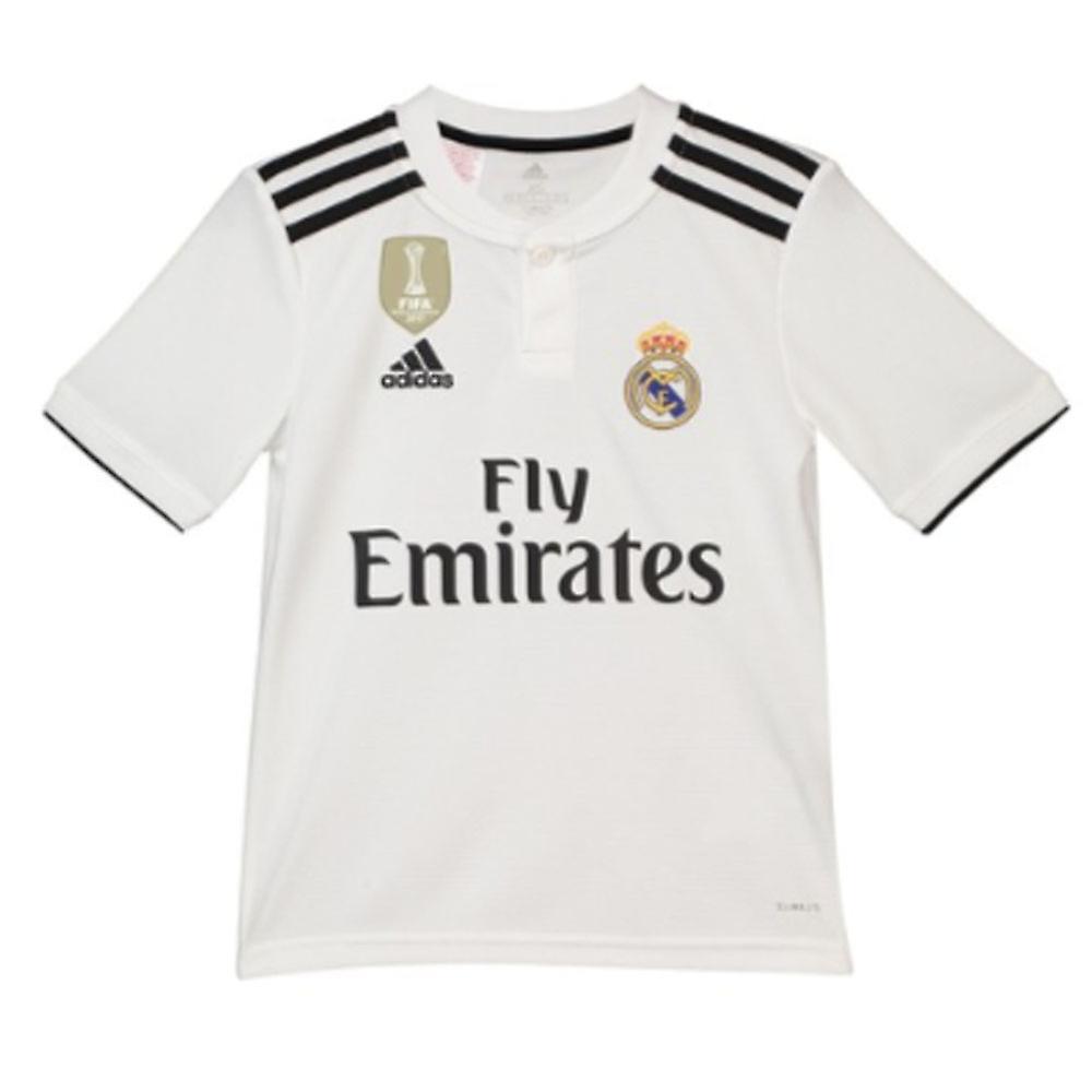 594021782 2018-2019 Real Madrid Adidas Home Shirt (Kids)