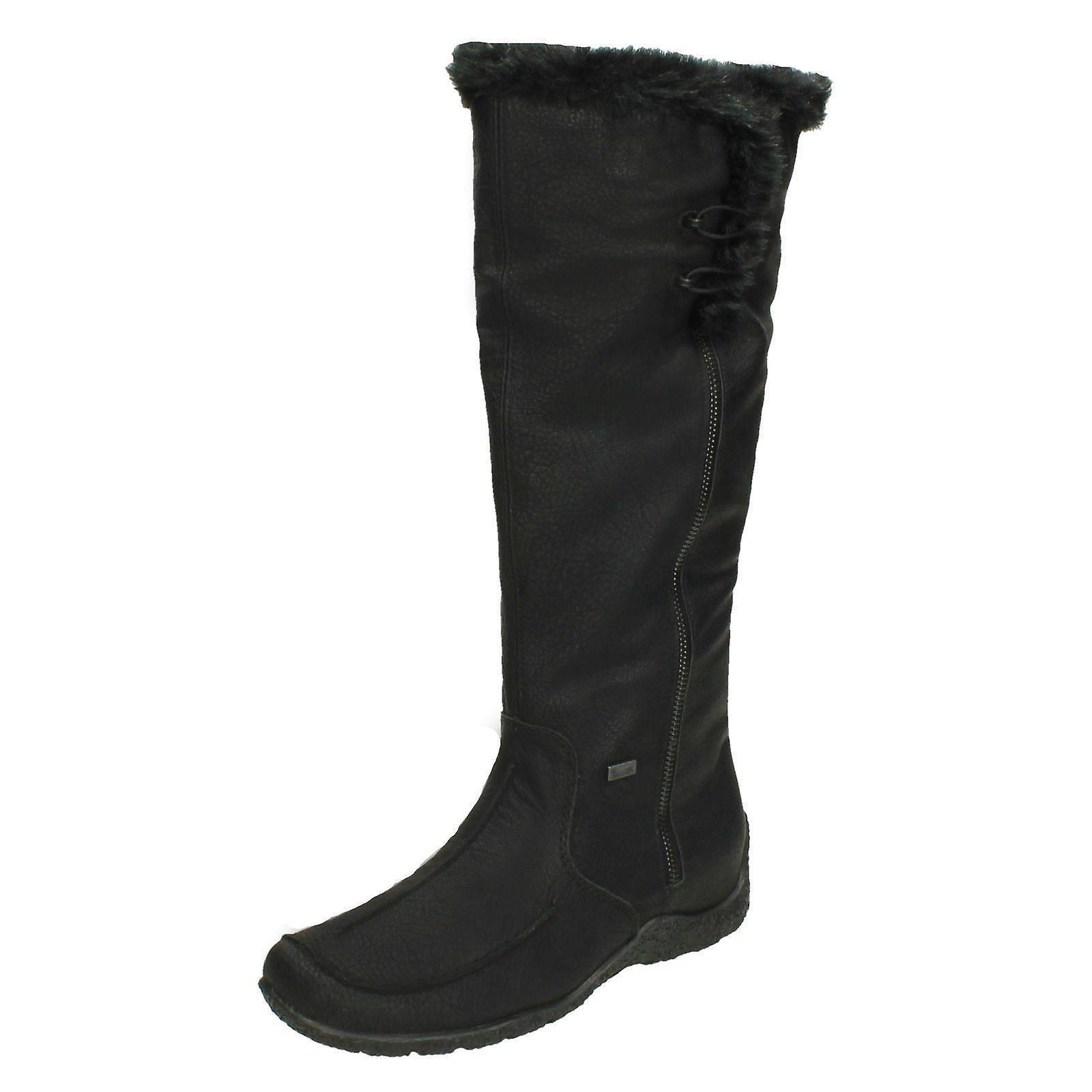 Rieker Damen kniehohe Stiefel 79954 Zip