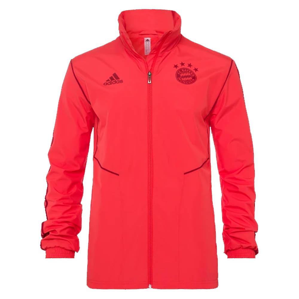 2019 2020 Bayern Munich Adidas Allweather Jacket (Red)
