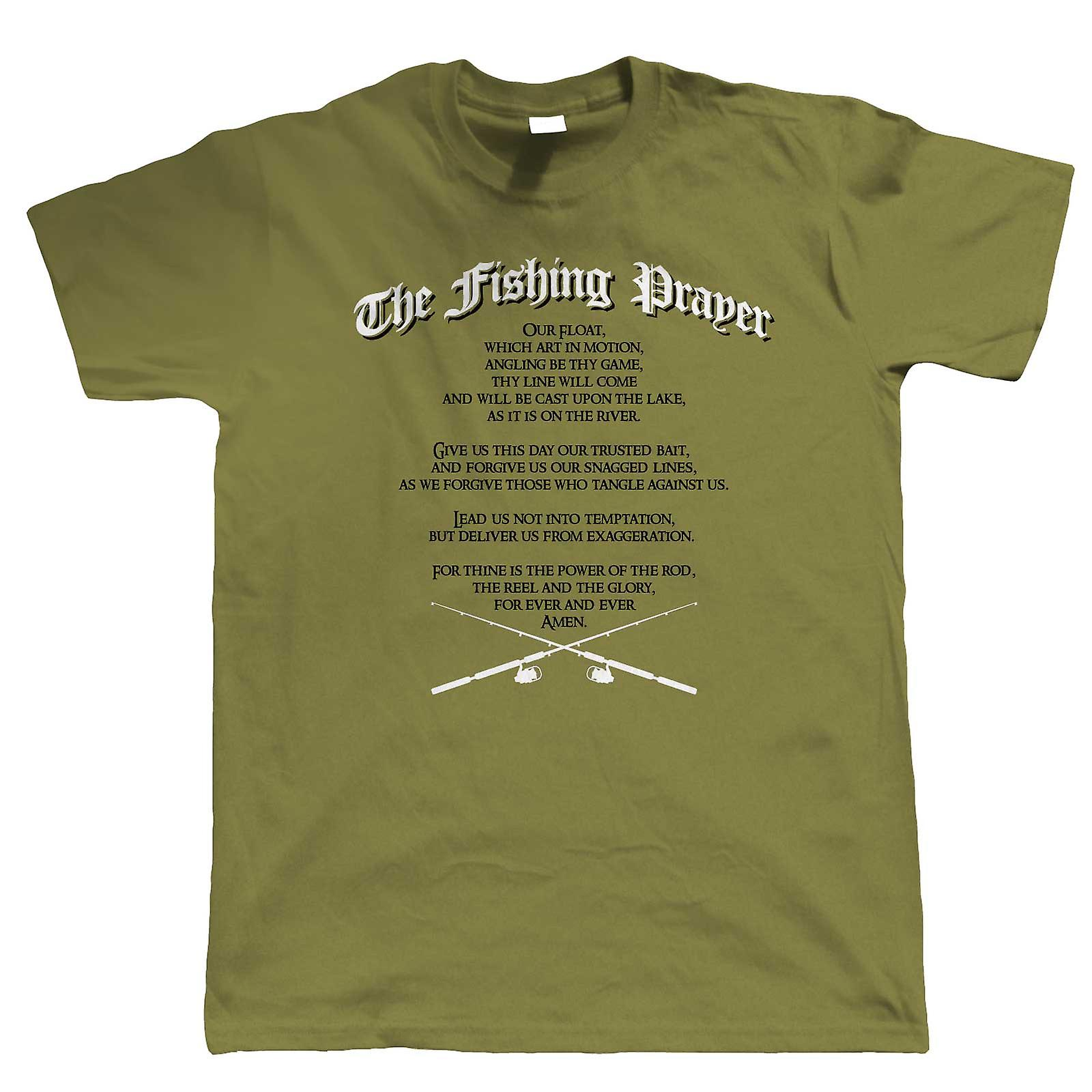 a592393d14 The Fishing Prayer, Mens Funny T Shirt | Coarse Carp Sea Match Fly Specimen  Tackle