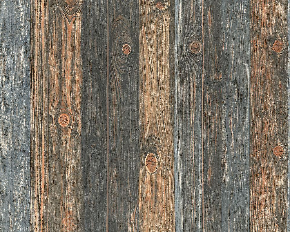 Wood Effect Wallpaper Wooden Panel Grain Realistic Distressed Non