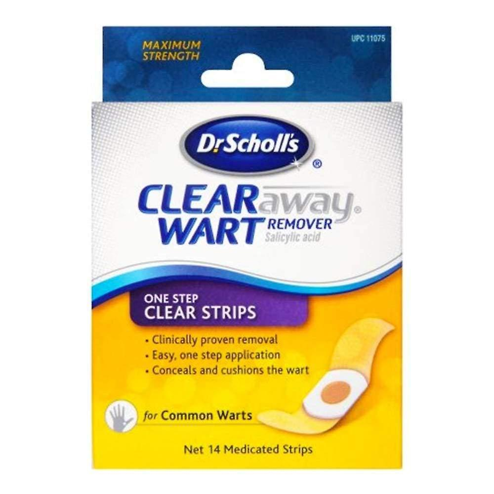 311c356976b Dr. scholl's clear away one step, salicylic acid wart remover, 14 ea ...