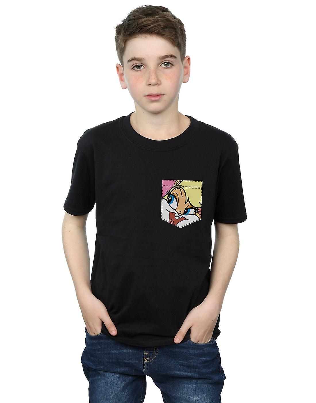 7db244743 Looney Tunes Boys Lola Bunny Face Faux Pocket T-Shirt | Fruugo
