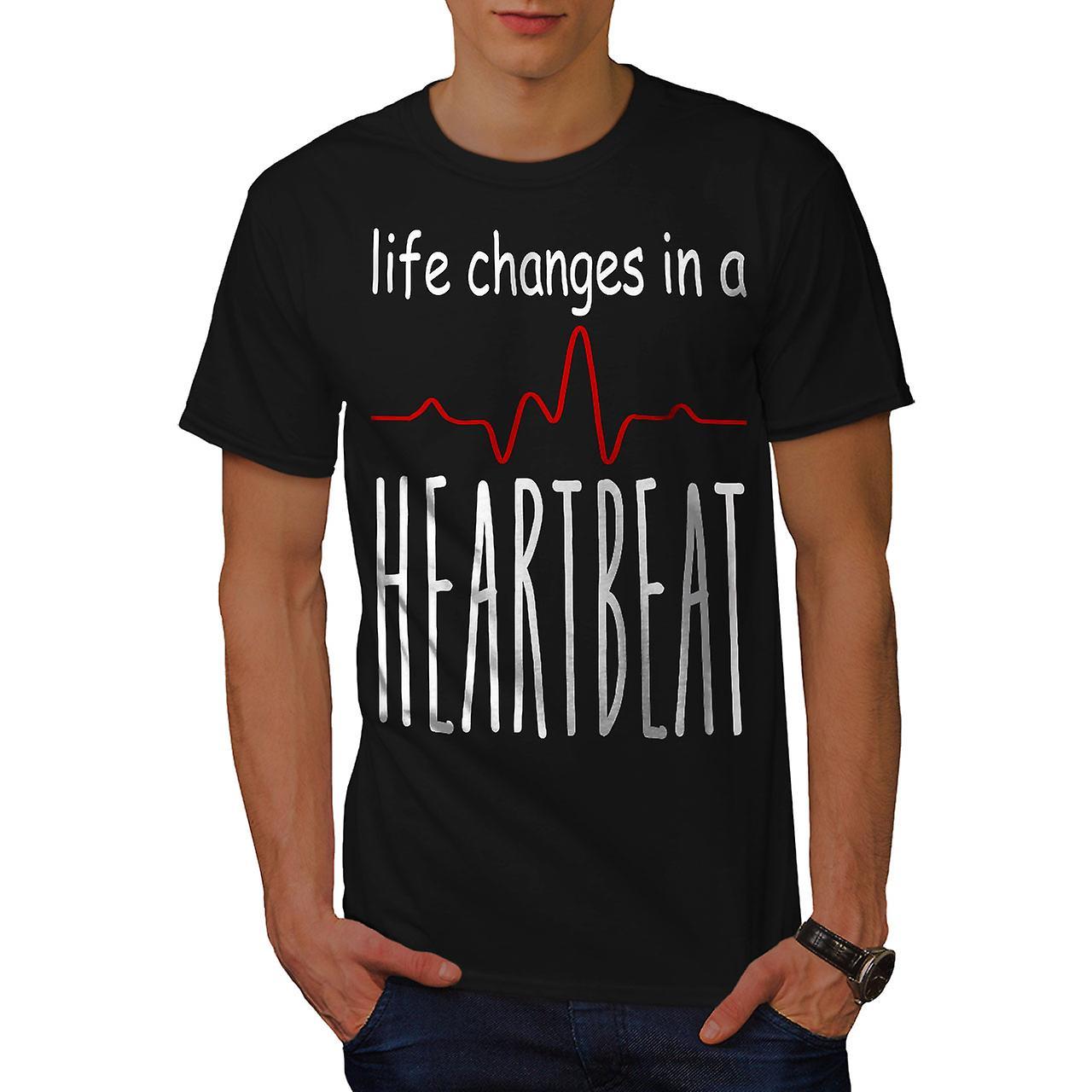 Leben Verandert Schnell Manner Blackt T Shirt Wellcoda Fruugo