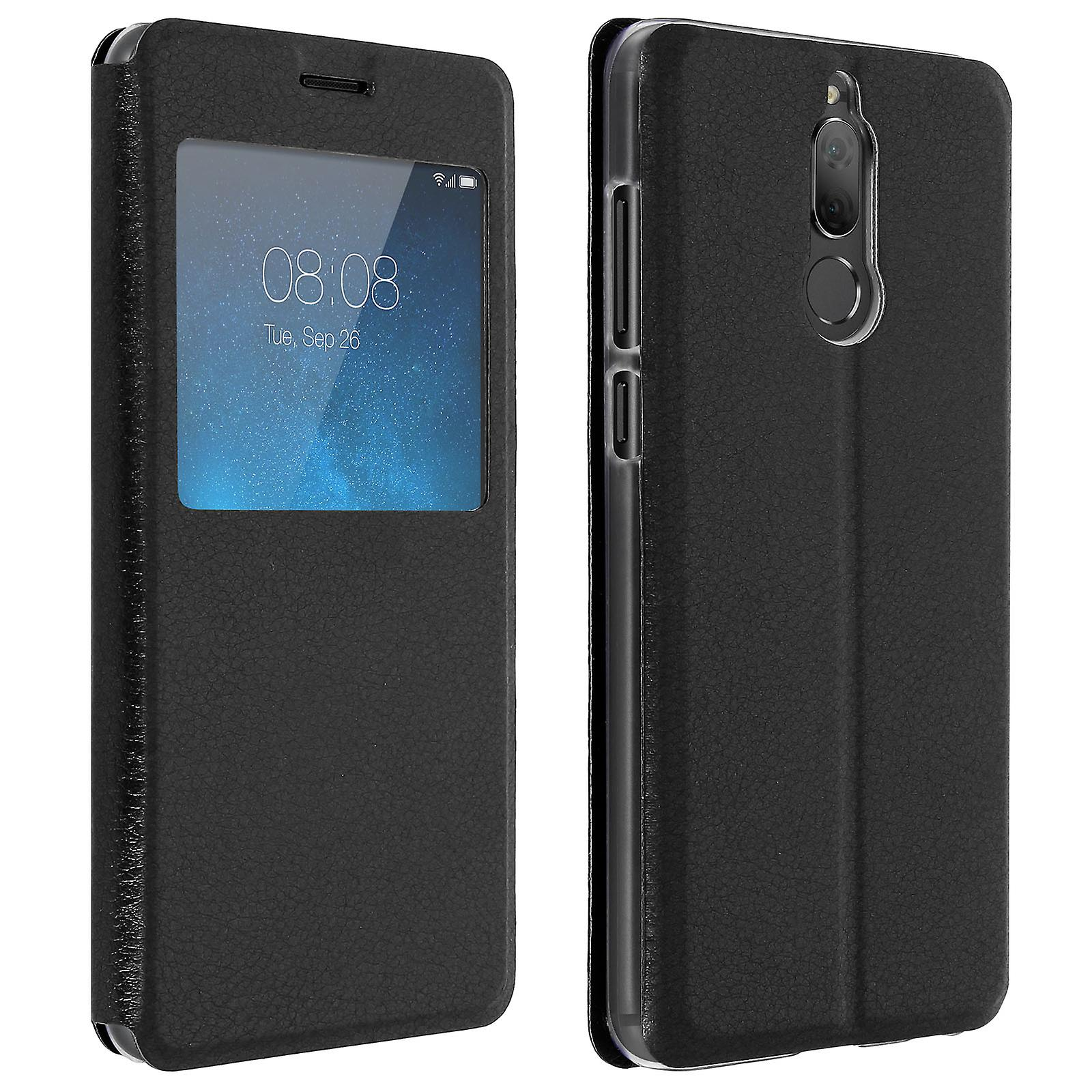 wholesale dealer f9be5 dd24e Smart view window flip case for Huawei Mate 10 Lite, slim cover - Black