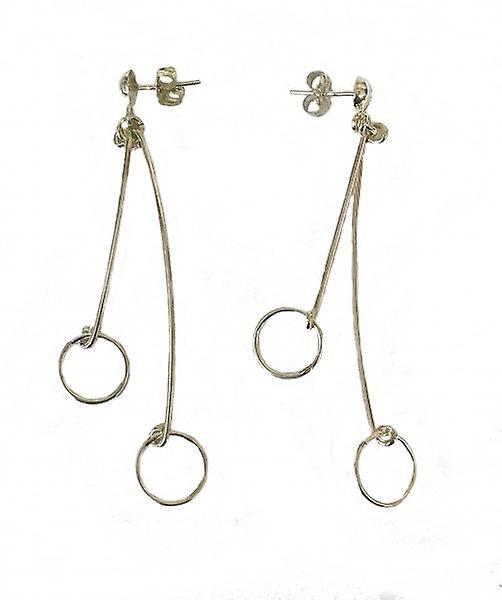 Cavendish franska Silver hängande hoop örhängen  98278d37f06de