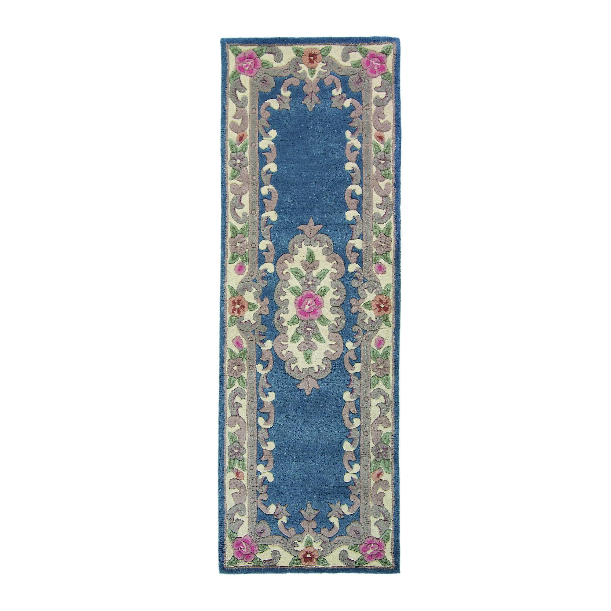 Dywany Chińskie 510 Aubusson Pełny Cut W Kolorze Niebieskim