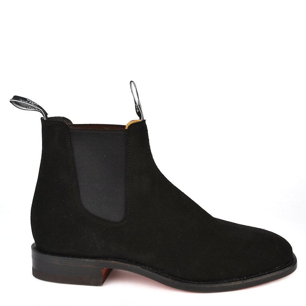 R.M. Williams Men's Craftsman Black Suede Chelsea Boot