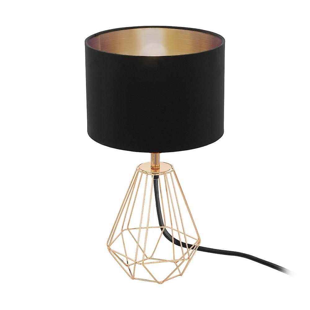 Eglo Carlton steg kobbertråd ramme bordlampe og skygge