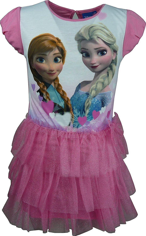 c55585a2 Disney frosne jenter Elsa & Anna Fancy kort erme kjole | Fruugo