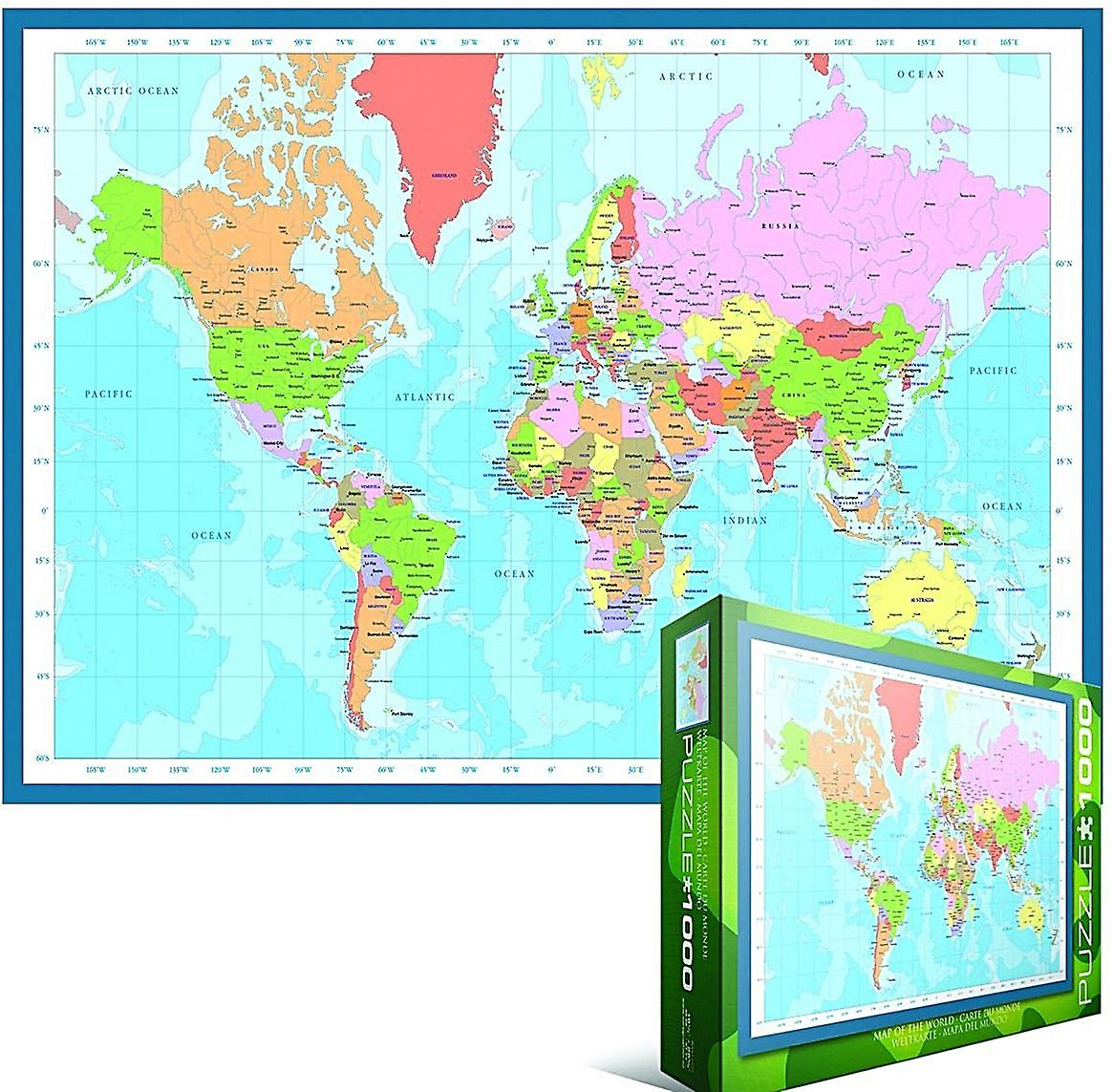 Map of the world 1000 piece jigsaw puzzle 680mm x 490mm pz fruugo map of the world 1000 piece jigsaw puzzle 680mm x 490mm pz gumiabroncs Gallery