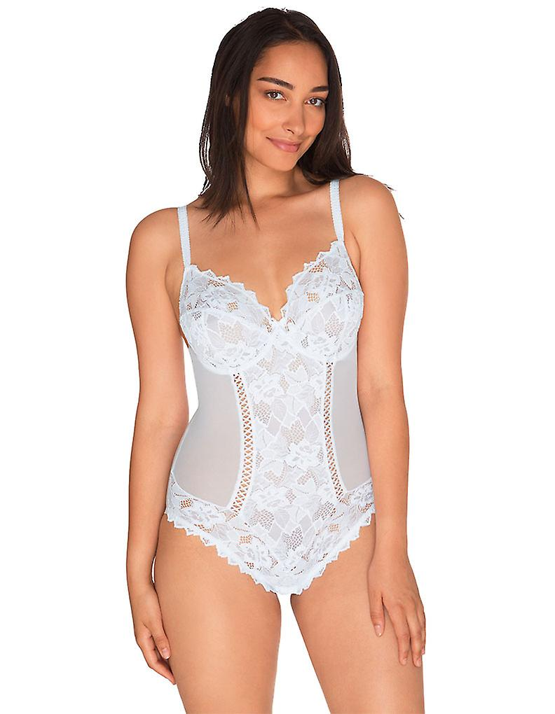 cd71f0ecb4c Sans Complexe 20564 Women s Arum White Lace Non-Padded Underwired Bodysuit  Body