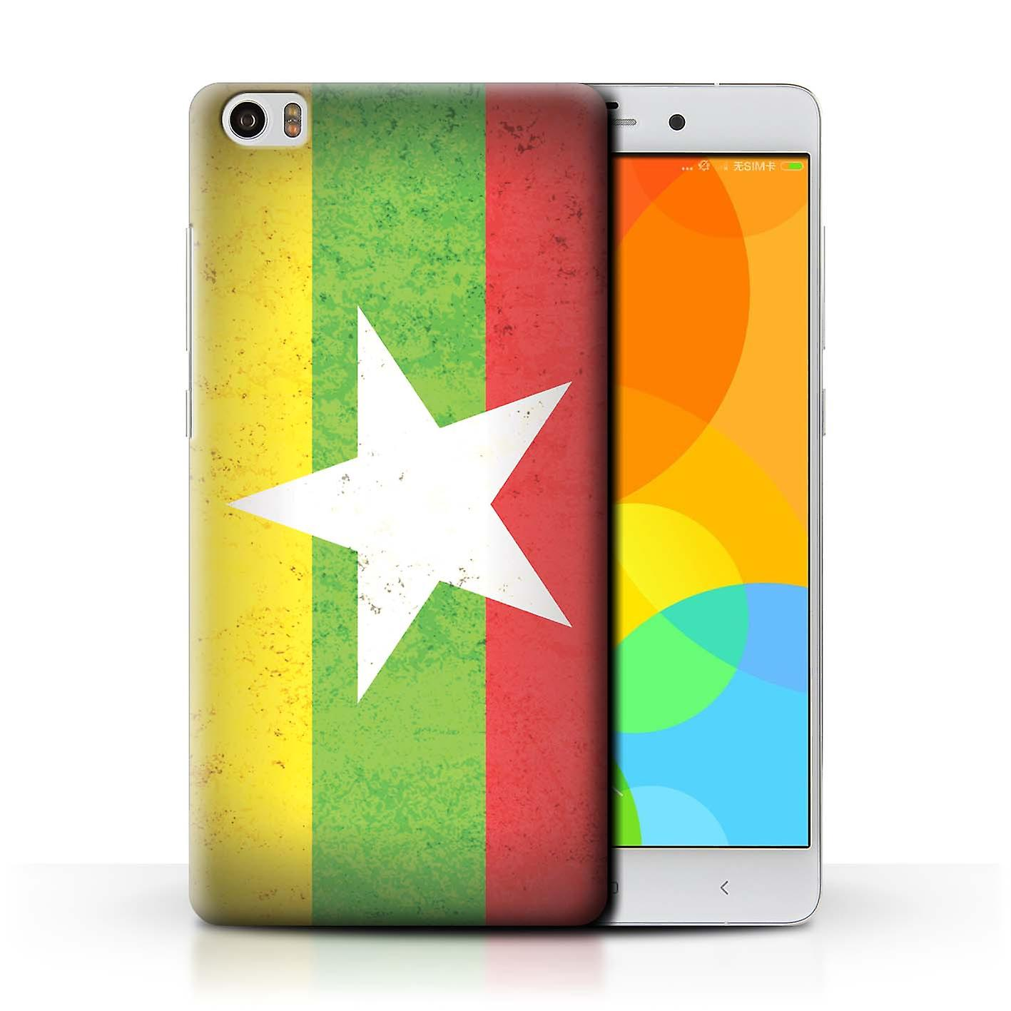 STUFF4 Phone Case/Cover for Xiaomi Mi Note / Myanmar/Burmese Design / Asian  Flag Collection