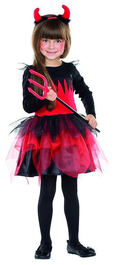 Teufelin Kleid Madchen Kostum Kinder Halloween Damonin Fasching